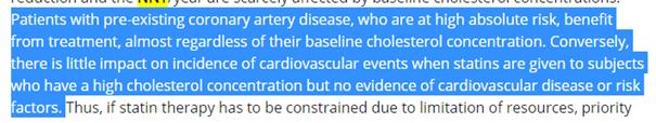 étude 18 cholesterol