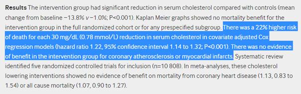 étude 7 cholesterol